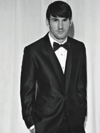 封面帅气十足 黑西服白领结显贵族范图片
