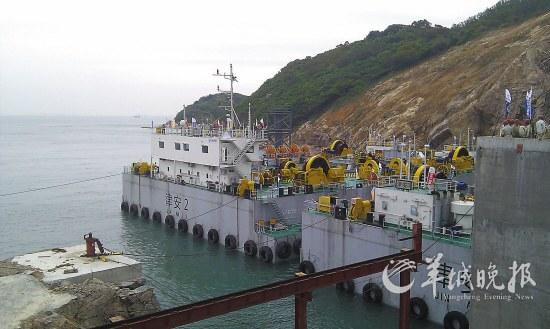 港珠澳大桥隧道沉管将与人工岛深海 接吻
