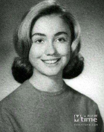 年轻时的希拉里·克林顿高清图片