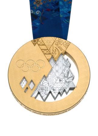 索契冬奥会奖牌发布 镂空设计体现俄罗斯民族风