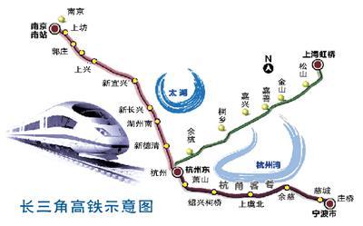 南京及沿线各城市;向南通过甬台温,温福,福厦高铁直达台州,温州,福州