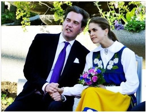 玛德莲/瑞典公主玛德莲与未婚夫(资料图)