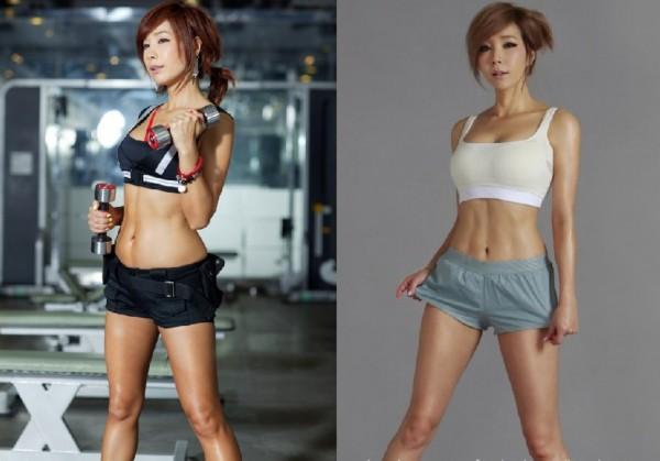 韩国女明星健身
