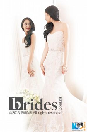 杨幂结婚婚纱图片