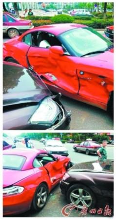 情侣吵架开豪车互撞发泄 网友 豪门感情伤不起 高清图片