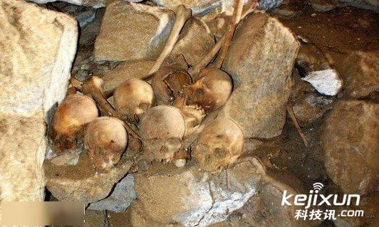 人类/他指出,研究骨骼残骸DNA和头骨形态学放射性碳测定,能够更...