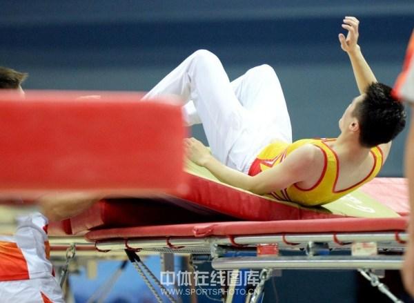2013年9月3日,第十二届全运会蹦床比赛继续在葫芦岛市奥体中心体育