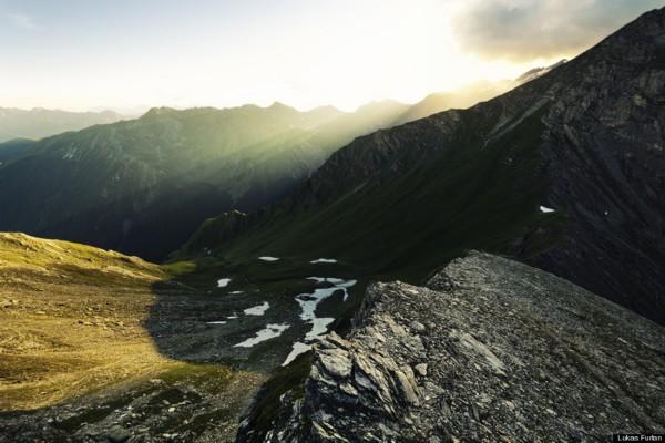 阿尔卑斯山脉绝美风景照:星空山水交融(组图)