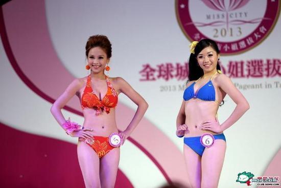 原标题[2013城市小姐大赛泳装展示太尴尬了这么多女汉子都来了]-城市图片