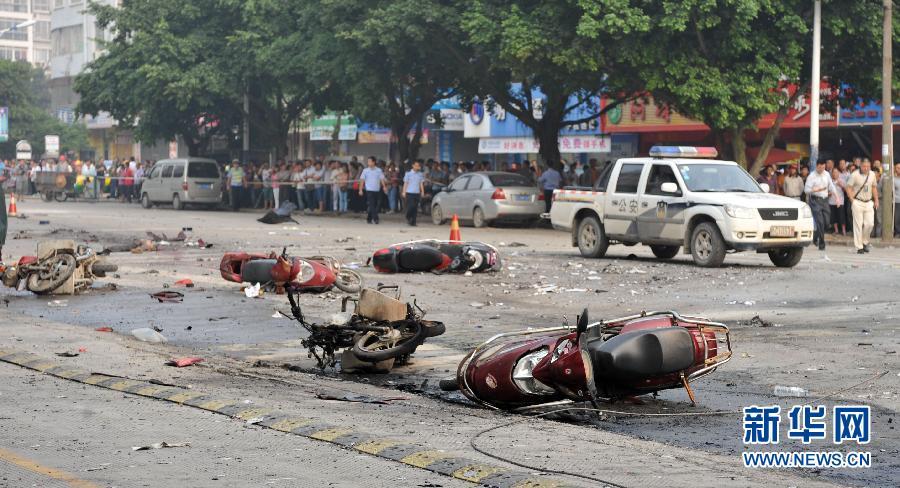 广西桂林市灵川县八里街爆炸案已造成2人死亡44人不同