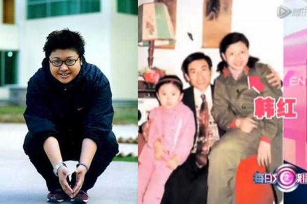 小时候的韩红并不胖,反而显得窈窕可爱,笑容十分清秀.