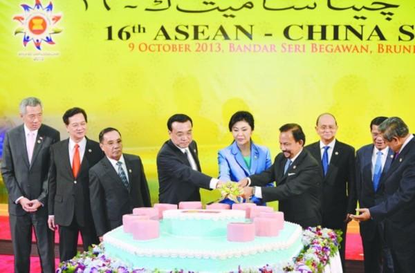 克强与东盟各国领导人庆祝中国东盟伙伴关系10周年图片