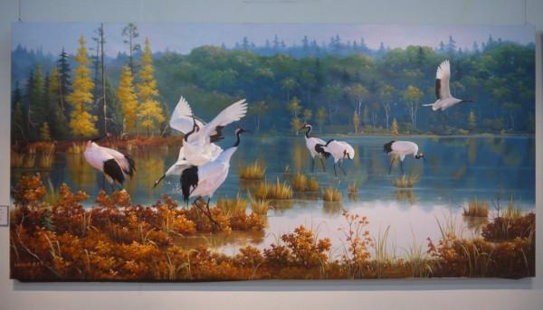 朝鲜美术作品展在京举行图片