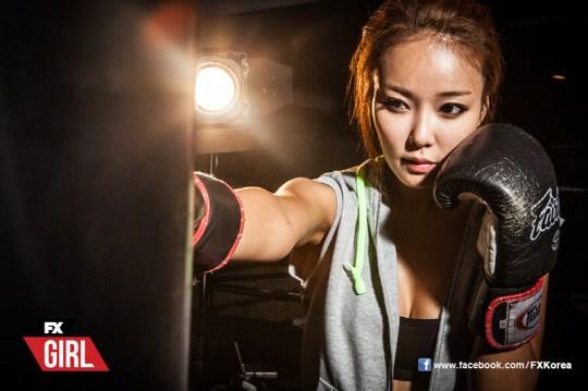 韩国搏击女郎拍摄性感写真