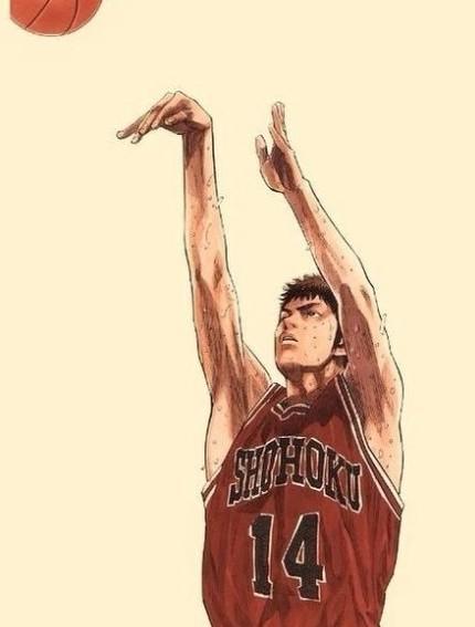赤木晴子的欢心,原来毫无篮球基础的樱木花道未及