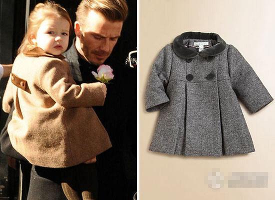 ... 怀里,大衣高腰线的设计更显出宝贝的浑圆可爱