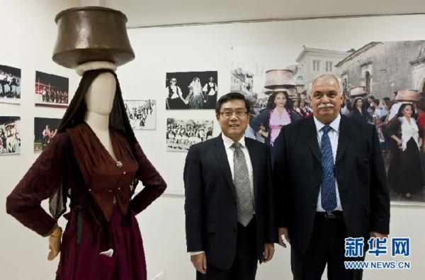"""""""中国日""""系列活动特写:东西方文明在希腊小岛握手图片"""