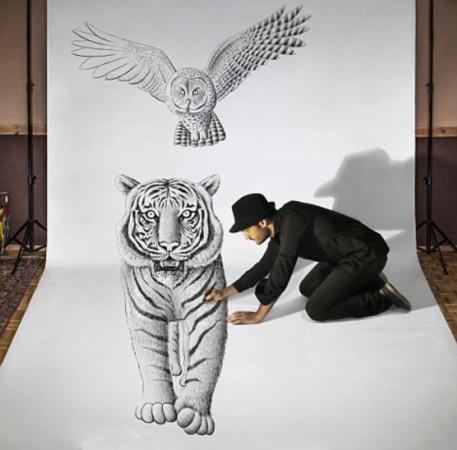 铅笔画3d立体画;