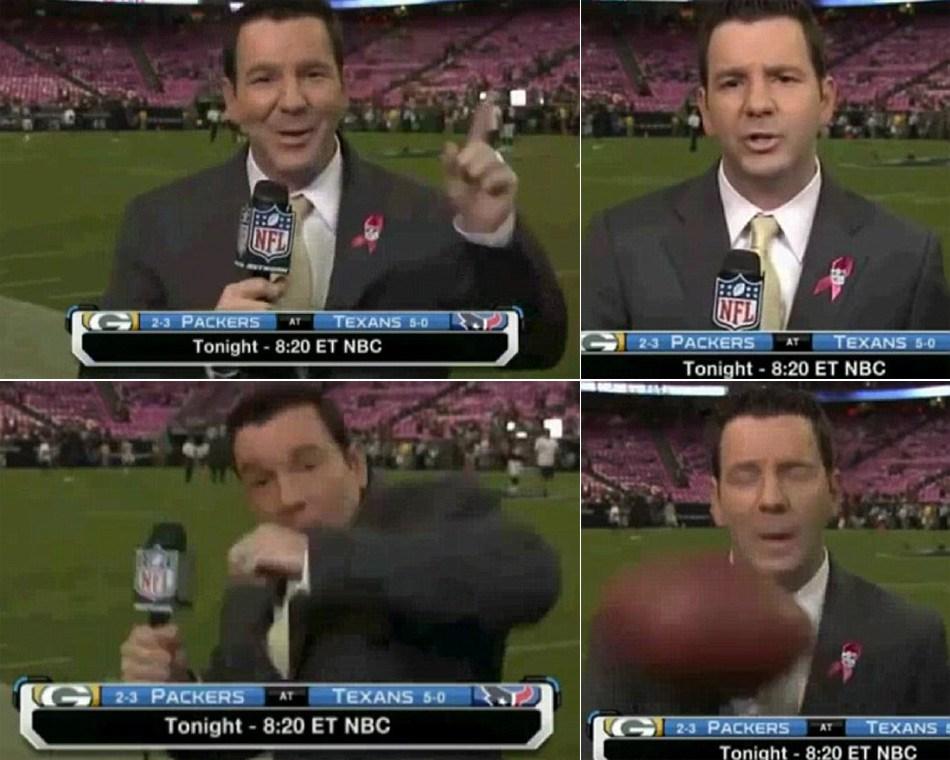 体育记者的艰辛:遭袭胸强吻泼饮料吃尽苦头