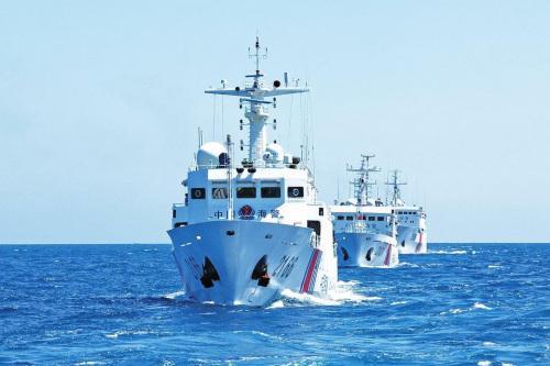 今日钓鱼岛军事新闻_中国海警船编队今日在钓鱼岛领海巡航__海南新闻网_南海网