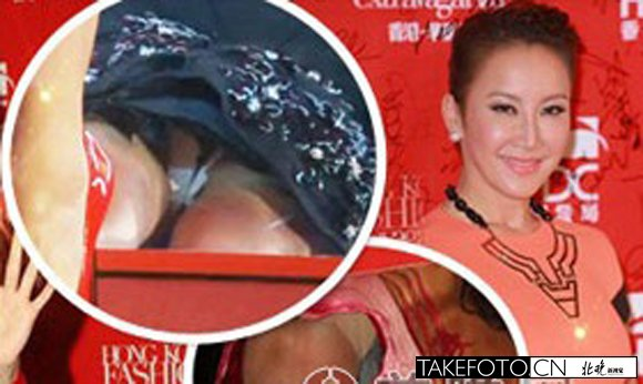 香港女星集体走光露私处 地面装镜子主办方太