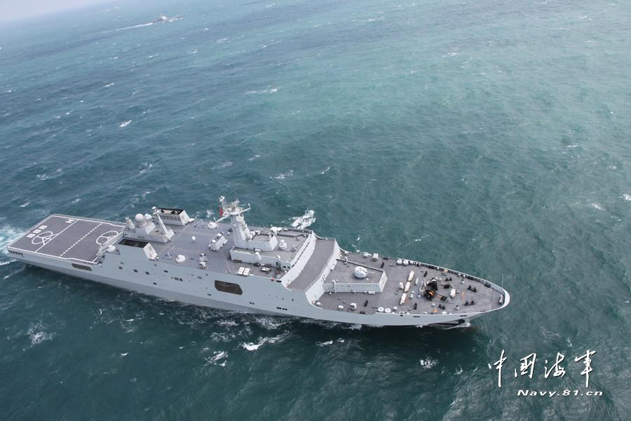 高清:海军新年度战备巡逻远海训练拉开序幕