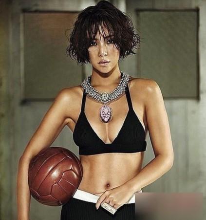 盘点韩国完美腹肌女星
