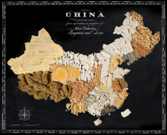 中国美食地图(中国台湾地区数据暂缺)