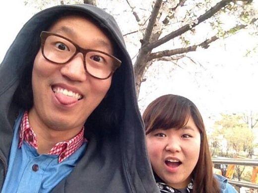 """并向恋人杨惠琳表达了无限爱意:""""真是越看越可爱,在一起的时候,能让人"""