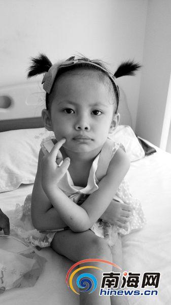 定安聋哑女童遇严重车祸 急需3万元做导尿手术