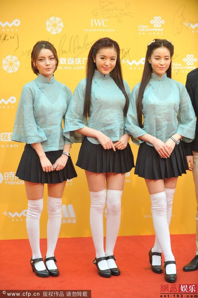 温心着民国制服亮相北京电影节