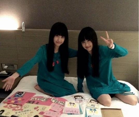 台湾超萌双胞胎跳舞13岁漂亮爱长大短发女生效果图图片