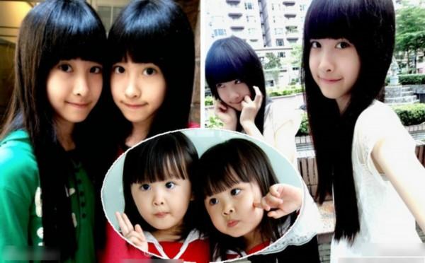 台湾双胞胎姐妹花可爱依旧 年龄没让她们变残(组图)