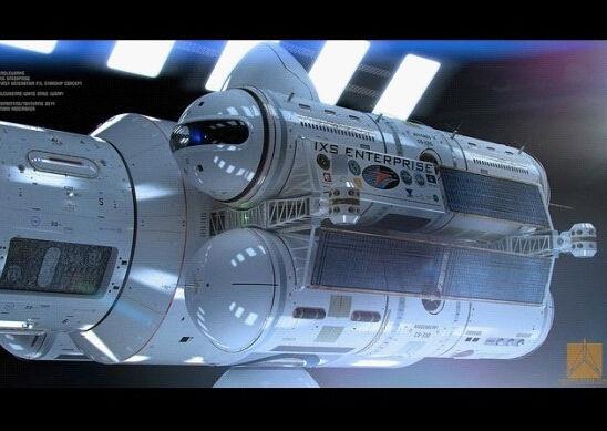 """宇宙飞船""""ixs企业号""""3d设计图"""