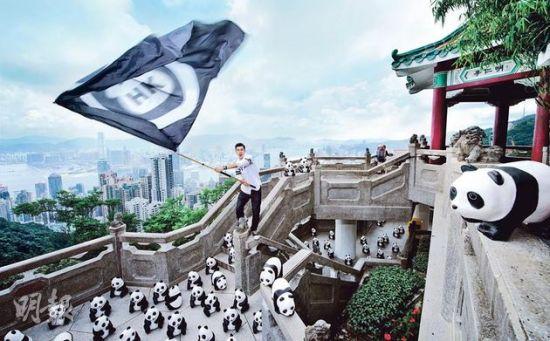 黄秋生与熊猫天台对话重演《无间道》找妈表情包图片