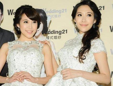 臺灣最美雙胞胎依依佩佩同辦婚禮 曾拍大尺度全裸寫真圖片 7
