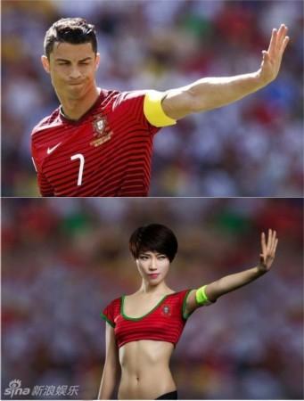 足球宝贝还原世界杯经典瞬间