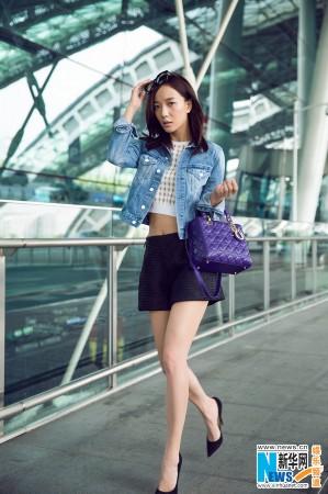 王珞丹夏日街拍青春浪漫 长腿纤腰清爽来袭图片