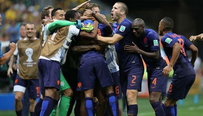 直击荷兰3-0完胜巴西获得世界杯季军