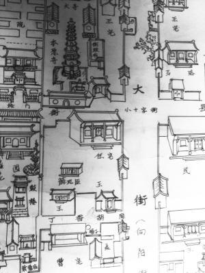 河北鹿泉古稀老人凭童年记忆手绘解放前古城风貌