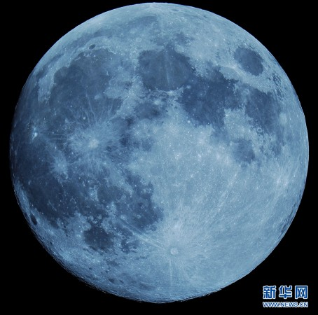 2014年9月8日,中秋月亮.中國航天科工集團研究員楊宇光攝