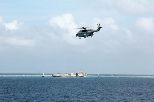 美国关注中国挖泥船南海造岛:改变南沙地图