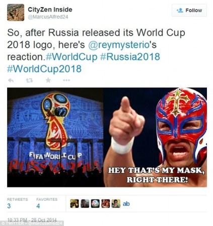 俄2018世界杯会徽遭吐槽 外星人剃须刀像哪个?