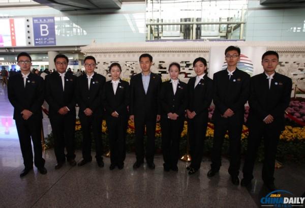 APEC领导人会议周首批志愿者着装上岗图片