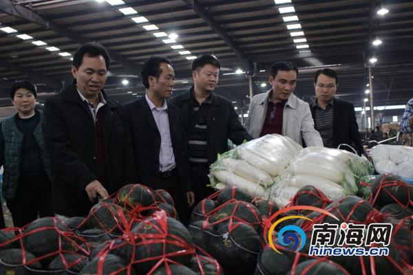 <b>澄迈瓜菜考察团北上考察签订15万吨瓜菜购销协议</b>