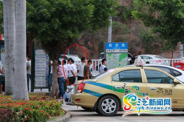 """三亚出租车司机帮黑车介绍生意被""""逮"""""""