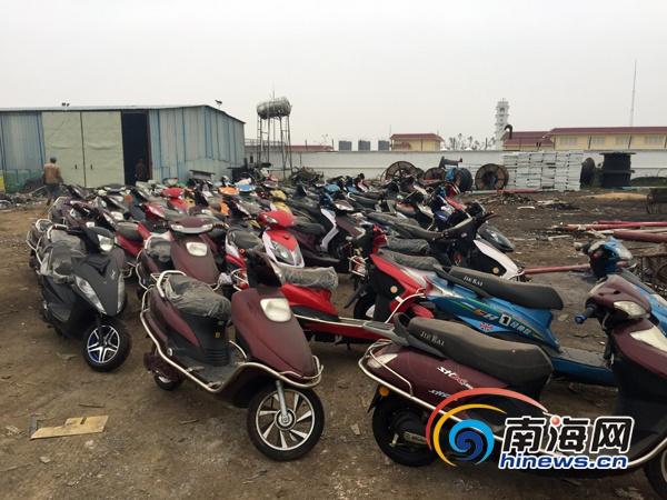 海南省质监稽查总队销毁一批假冒电动车标值13万元