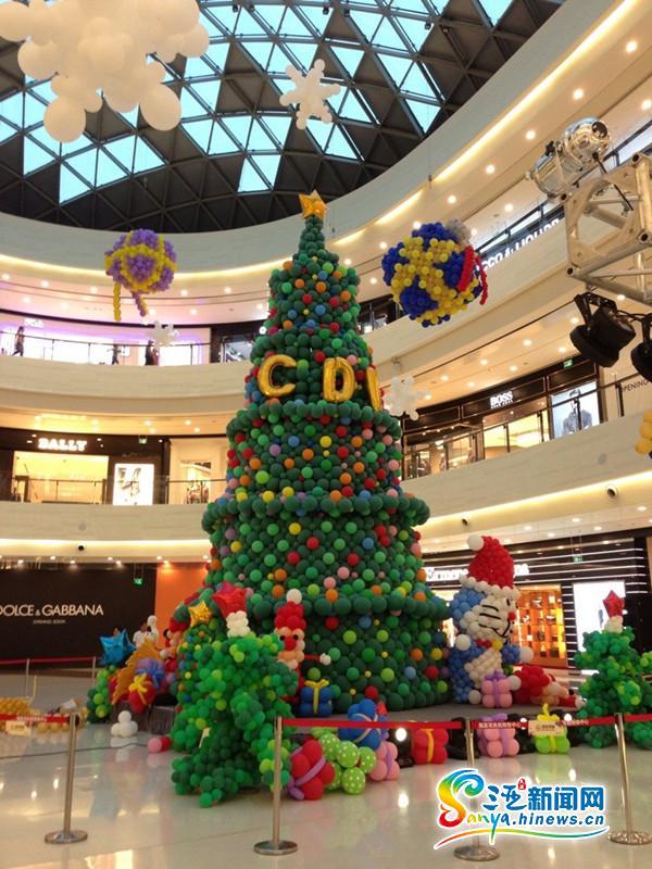 海棠湾免税购物中心狂欢圣诞夜顾客感受浓郁节日氛围