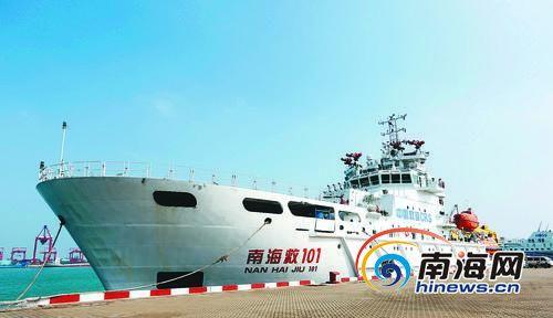 中国搜救船海口待命参与亚航失事客机搜救(图)