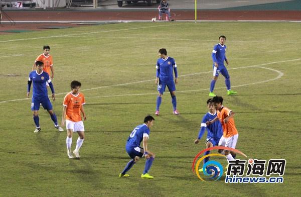 海南首支职业足球队海南铁汉队亮相首秀0:1输给对手